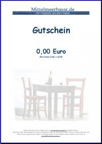 Gutschein Mittelmeerbasar 50,00 EUR