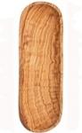 Baguette-Schale aus Olivenholz 30 x 10 cm